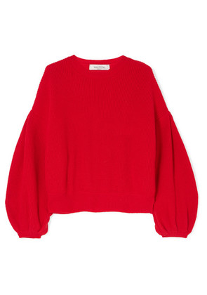Valentino - Wool And Cashmere-blend Sweater - Red