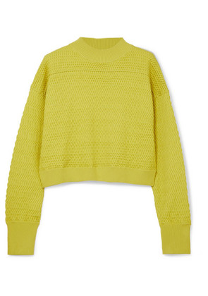 3.1 Phillip Lim - Cropped Knitted Sweater - Chartreuse