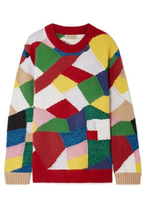 Burberry - Color-block Knitted Sweater - Red