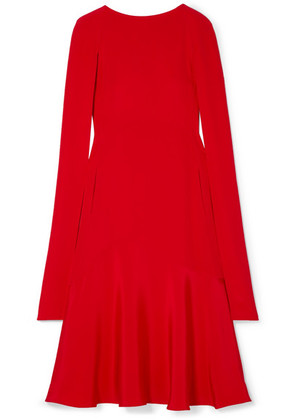 CALVIN KLEIN 205W39NYC - Cape-effect Silk-cady Midi Dress - Red