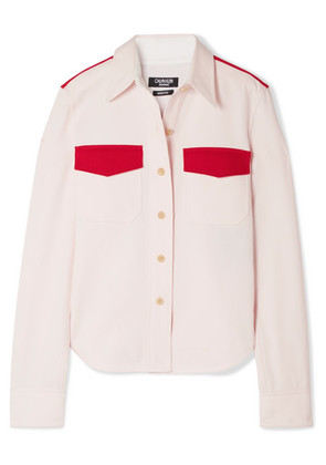 CALVIN KLEIN 205W39NYC - Two-tone Cotton-twill Shirt - Pink