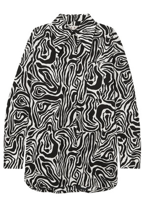 Marni - Oversized Zebra-print Cotton-poplin Shirt - Black