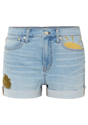 Madewell - Embroidered Denim Shorts - Blue