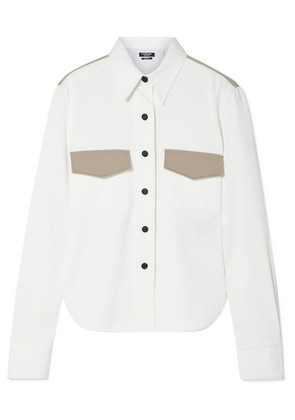 CALVIN KLEIN 205W39NYC - Two-tone Cotton-twill Shirt - White