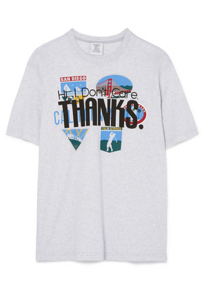 Vetements - Printed Cotton-jersey T-shirt - Light gray