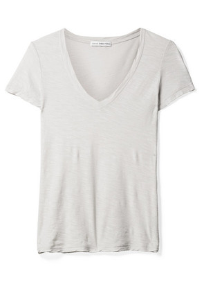 James Perse - Casual Slub Supima Cotton-jersey T-shirt - Light gray