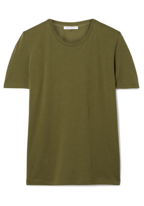 Ninety Percent - Jenna Organic Cotton-jersey T-shirt - Army green