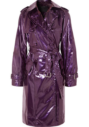 Marc Jacobs - Metallic Vinyl Trench Coat - Purple