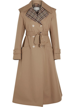 Gucci - Appliquéd Cotton-blend Gabardine Trench Coat - Sand