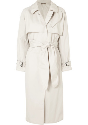 Bottega Veneta - Cotton-blend Gabardine Trench Coat - Off-white
