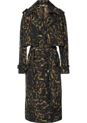 Stella McCartney - Leopard-print Nylon Trench Coat - Brown