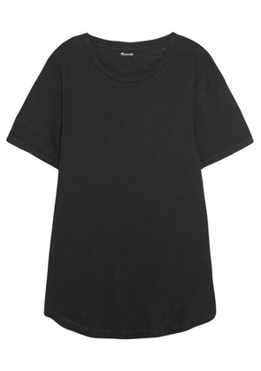 Madewell - Whisper Slub Cotton-jersey T-shirt - Black