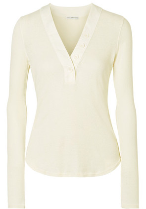 James Perse - Ribbed Cotton-jersey Top - Ivory