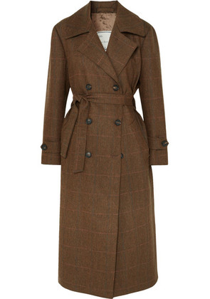 Giuliva Heritage Collection - Christie Checked Wool Trench Coat - Brown