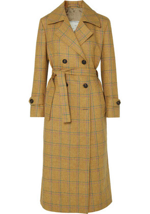 Giuliva Heritage Collection - Christie Checked Wool Trench Coat - Beige