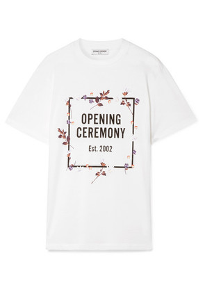 Opening Ceremony - Printed Cotton-jersey T-shirt - White