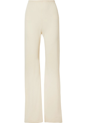 The Row - Gala Stretch-cady Wide-leg Pants - Cream