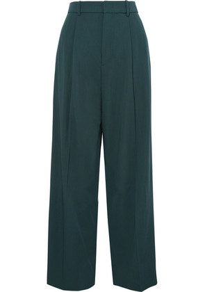 Joseph - Riska Wool-gabardine Wide-leg Pants - Green