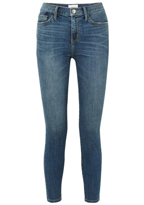 Current/Elliott - The High Waist Stiletto Cropped Skinny Jeans - Dark denim