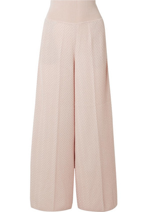 Missoni - Crochet-knit Wool-blend Wide-leg Pants - Cream