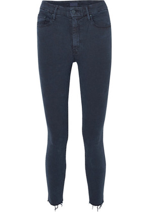 Mother - Looker Cropped High-rise Skinny Jeans - Navy