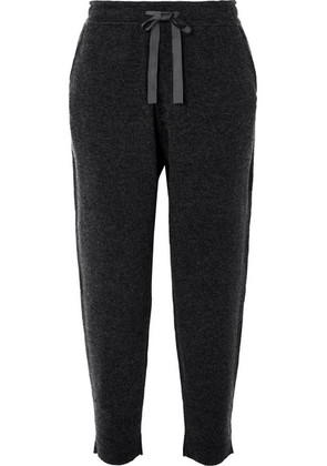 Allude - Wool And Cashmere-blend Track Pants - Gray