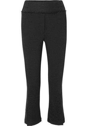 Ann Demeulemeester - Cropped Cotton Track Pants - Black