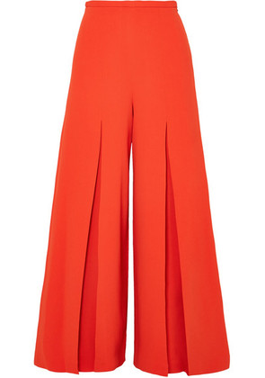 Roland Mouret - Huggate Pleated Cady Wide-leg Pants - Orange
