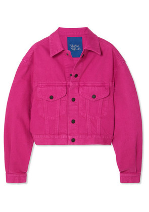 SIMON MILLER - Morgo Cropped Denim Jacket - Magenta