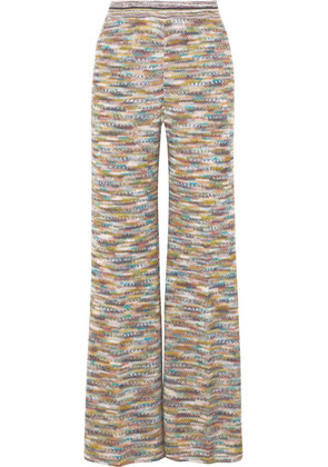 Missoni - Crochet-knit Wide-leg Pants - Yellow