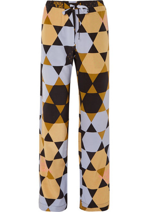 Stine Goya - Aileen Printed Silk-crepe Pants - Blue