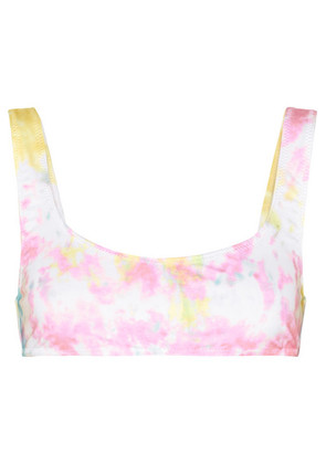 Solid & Striped - + Re/done The Elle Tie-dyed Bikini Top - Pastel pink