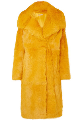 Michael Kors Collection - Shearling Coat - Yellow
