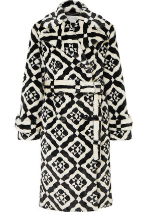 Mary Katrantzou - Stokes Printed Faux Fur Coat - Black