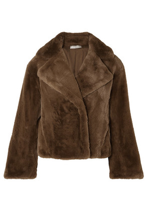 Vince - Faux Fur Coat - Brown
