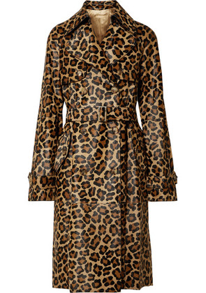 Michael Kors Collection - Leopard-print Calf Hair Trench Coat - Leopard print