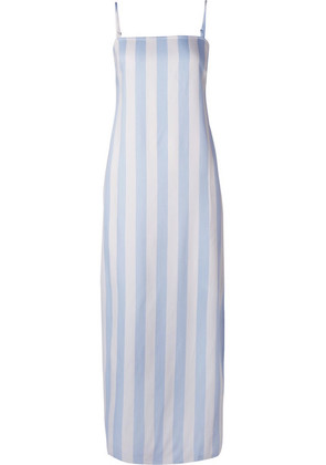 Mara Hoffman - Sena Striped Voile Maxi Dress - Light blue