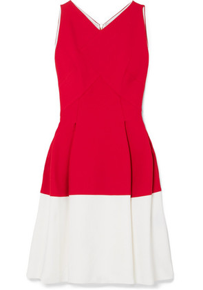 Roland Mouret - Ellesfield Two-tone Crepe Dress - Red