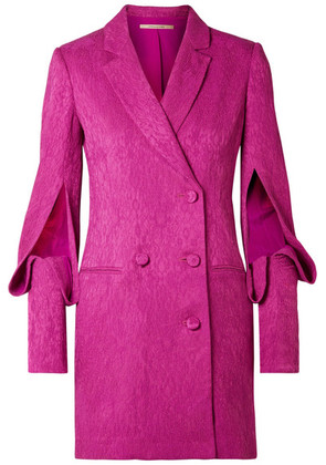 Hellessy - Thatcher Double-breasted Cloqué Dress - Fuchsia