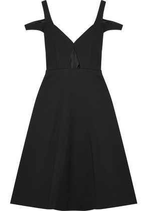 Carven - Cutout Crepe Dress - Black