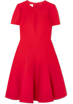 Valentino - Wool And Silk-blend Dress - Red