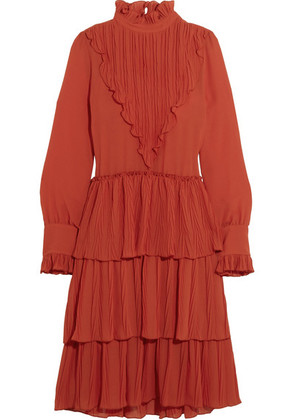 See By Chloé - Tiered Ruffled Chiffon Dress - FR36