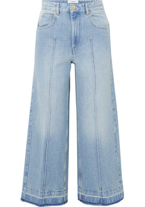 Isabel Marant Étoile - Cabrio Cropped High-rise Wide-leg Jeans - Mid denim