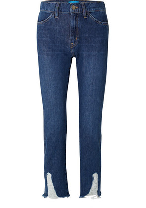M.i.h Jeans - Cult Distressed Mid-rise Straight-leg Jeans - Mid denim