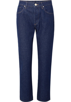 Goldsign - The Benefit High-rise Straight-leg Jeans - Dark denim
