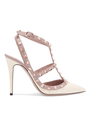 Valentino - The Rockstud Glossed-leather Pumps - Ivory