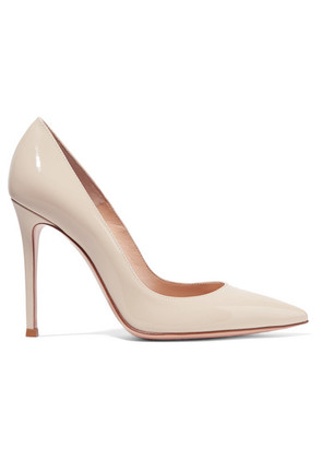 Gianvito Rossi - 105 Patent-leather Pumps - Off-white