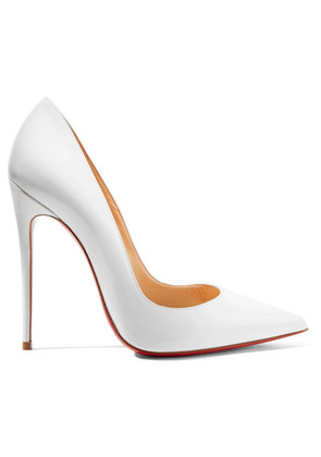Christian Louboutin - So Kate 120 Patent-leather Pumps - White