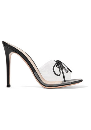 Gianvito Rossi - Plexi 100 Leather And Pvc Mules - Black