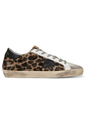 Golden Goose Deluxe Brand - Superstar Distressed Leopard-print Calf Hair, Leather And Suede Sneakers - Leopard print